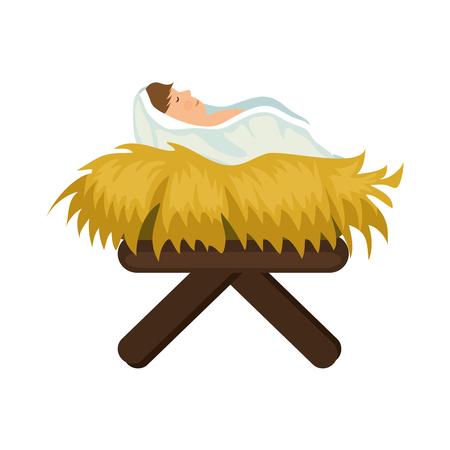 baby jesus icon over white background colorful design vector illustration