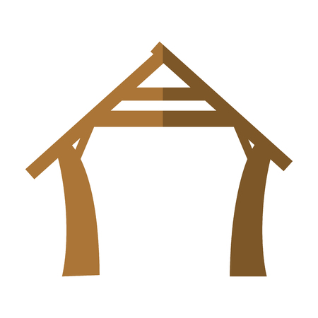 manger house icon over white background vector illustration