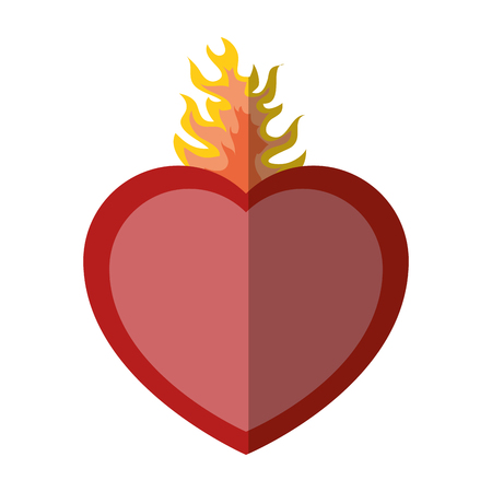 sacred heart icon over white background vector illustration Çizim