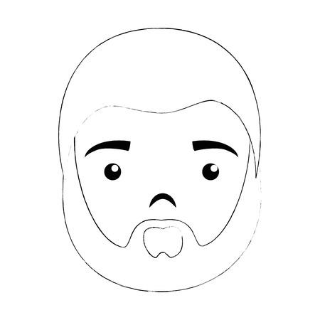 白い背景のベクトル図を漫画男アイコン