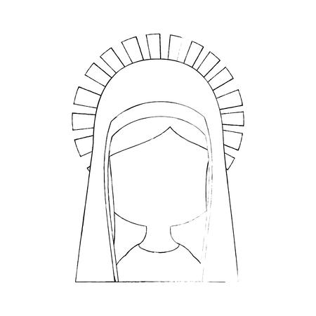 Maagd Maria-pictogram op witte achtergrond vectorillustratie Stockfoto - 81274176