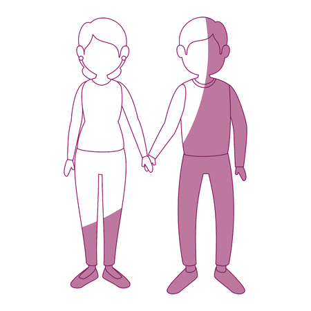 couple in love icon over white background vector illustration Illustration