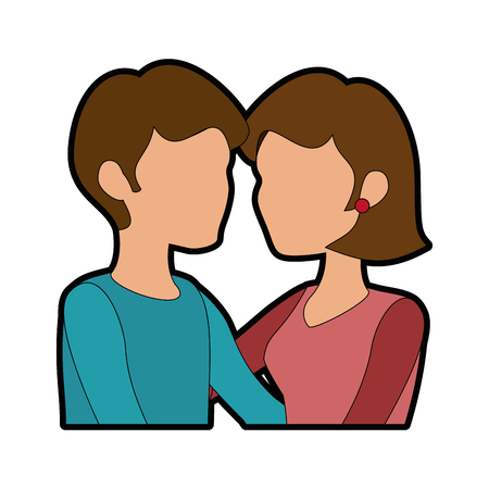 couple in love icon over white background colorful design vector illustration