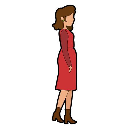 Avatar Frau trägt lässig Kleidung Symbol über weißem Hintergrund bunte Design Vektor-Illustration Standard-Bild - 81301047