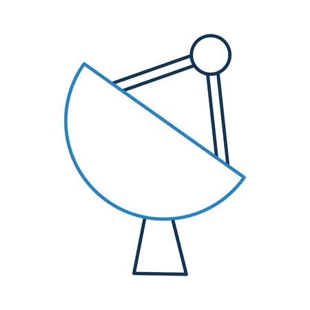 Artificial satellite spacial icon vector illustration design