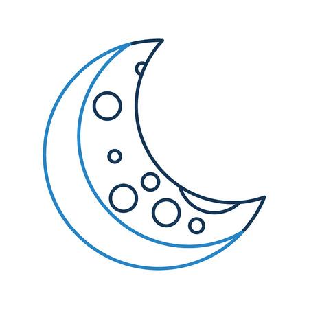 Natürliche Satelliten-Mond-Symbol Vektor-Illustration Design Standard-Bild - 81365511