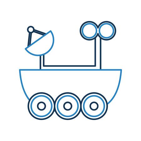 Illustrazione vettoriale icona dell'auto dell'esploratore di spazio Archivio Fotografico - 81364437
