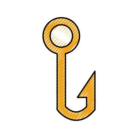 낚시 후크 격리 된 아이콘 벡터 일러스트 디자인 스톡 콘텐츠 - 81364616