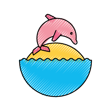 dolphin silhouette: cute dolphin isolated icon vector illustration design Illustration