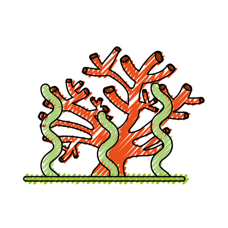 Marine coral icon vector illustration design