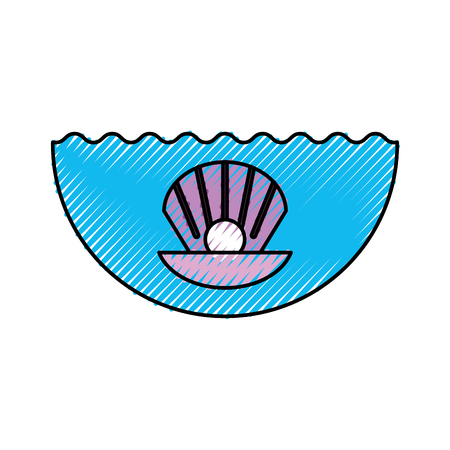 Sea shell isolated icon vector illustration design Reklamní fotografie - 81373849
