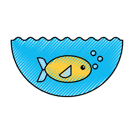 sea fish swiming icon vector illustration design Illustration