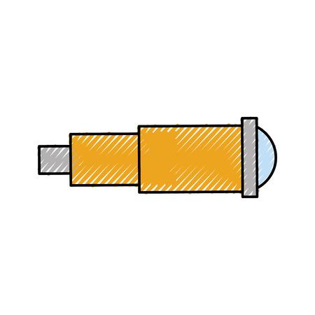 Marine telescope isolated icon vector illustration design