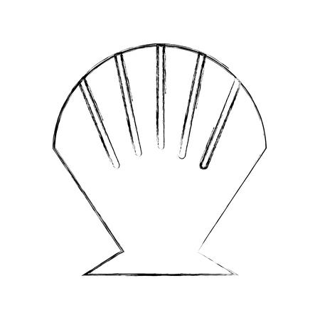 Sea shell isolated icon vector illustration design