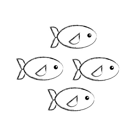 Shoal of fish icon vector illustration design Stok Fotoğraf - 81373863