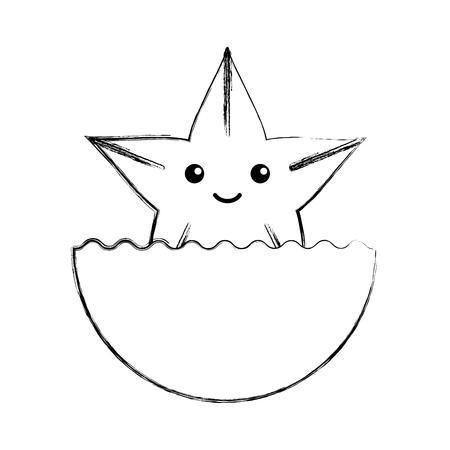 star fish: cute starfish isolated icon vector illustration design Illustration