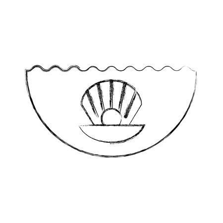 Sea shell isolated icon vector illustration design Reklamní fotografie - 81373875