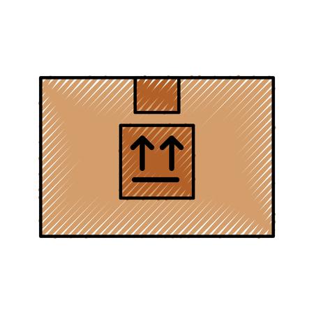box carton delivery icon vector illustration design Çizim