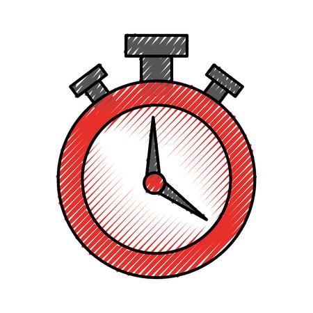 Chronomètre montre isolé icône vector illustration design Banque d'images - 81371961