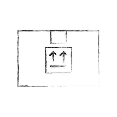 box carton delivery icon vector illustration design Ilustração