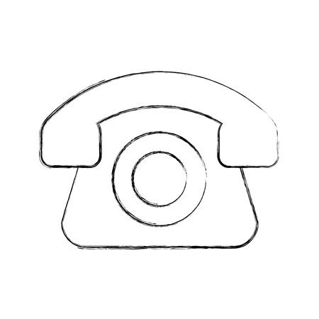 old telephone: telephone service isolated icon vector illustration design Illustration