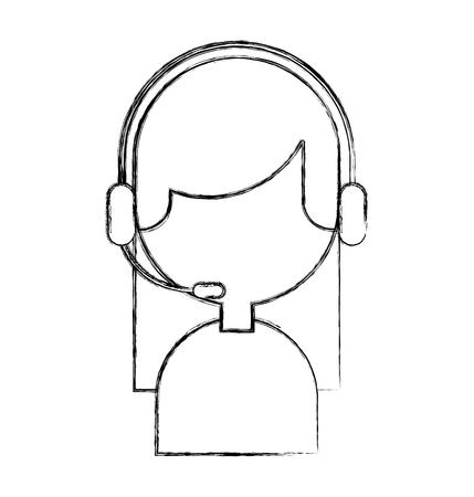 Agente di call center avatar illustrazione vettoriale di progettazione Archivio Fotografico - 81372203
