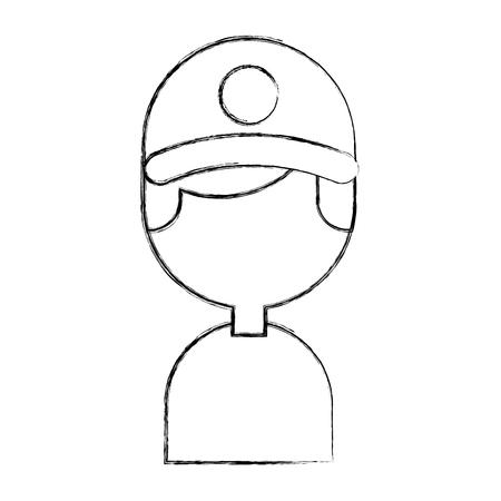 Diseño de ilustración de vector de personaje de avatar de trabajador de entrega Foto de archivo - 81372206