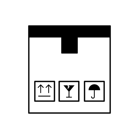A box carton delivery icon vector illustration design.