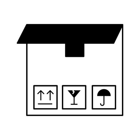 A box carton delivery icon vector illustration design. 版權商用圖片 - 81372191