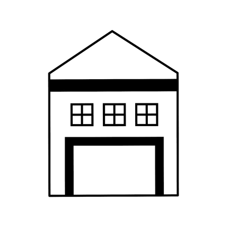 A warehouse building isolated icon vector illustration design.