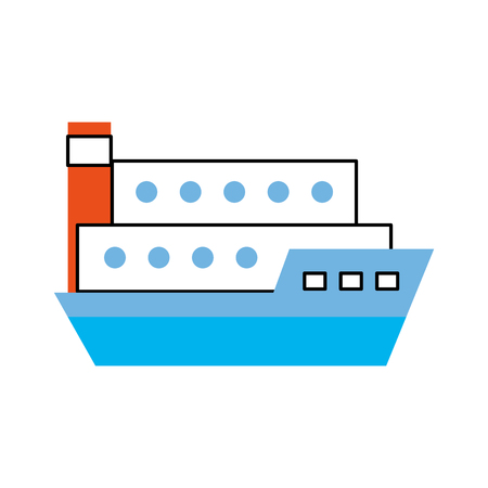 ship cargo isolated icon vector illustration design Banco de Imagens - 81372295