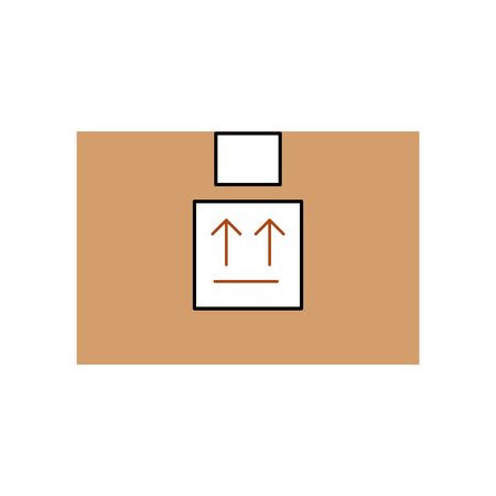 box carton delivery icon vector illustration design 向量圖像