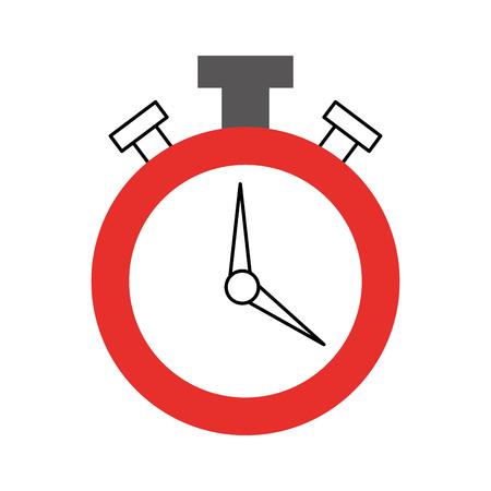 Chronomètre montre isolé icône vector illustration design Banque d'images - 81372302