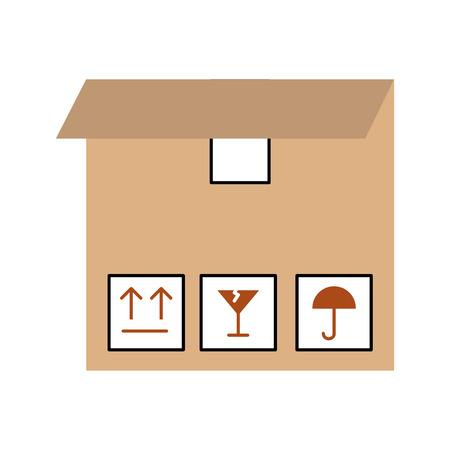 box carton delivery icon vector illustration design 版權商用圖片 - 81372300
