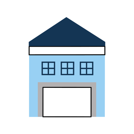 warehouse building isolated icon vector illustration design