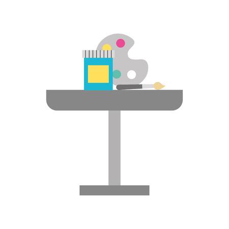Table decoration instruments draw icon vector illustration design graphic