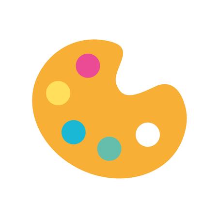 색상 팔레트 아이콘 벡터 일러스트 디자인 그래픽 결합 일러스트