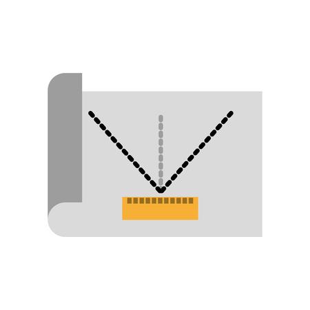 Folha de desenho ideias ícone ilustração vetorial design gráfico Foto de archivo - 81372277