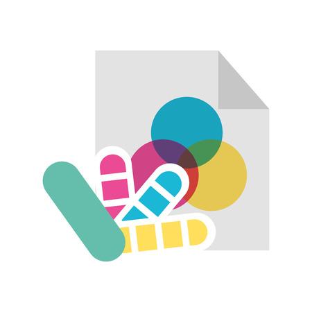 Combinare icona di palette di colore icona illustrazione vettoriale grafica di progettazione Archivio Fotografico - 81372317