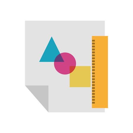 Blatt zeichnen Ideen Symbol Vektor-Illustration Design Grafik Standard-Bild - 81372752