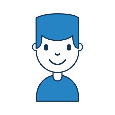 young man avatar character vector illustration design