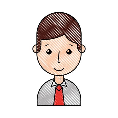 businessman avatar character icon vector illustration design