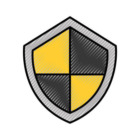 security shield isolated icon vector illustration design Stock Photo