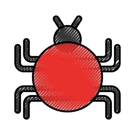 bug infection virus icon vector illustration design Stock Photo