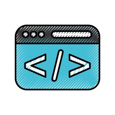 template web programming language vector illustration design