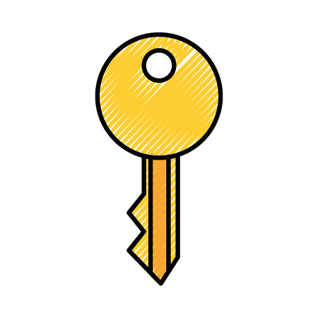 key security isolated icon vector illustration design Imagens - 81375064