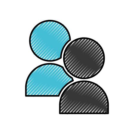 community avatars isolated icon vector illustration design