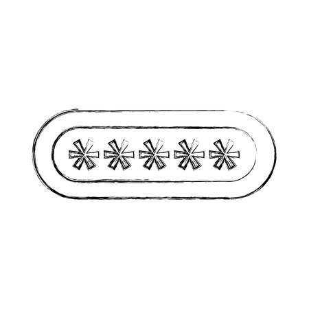 ontwerp van de het pictogram vectorillustratie van het wachtwoord het login geïsoleerde pictogram Stock Illustratie