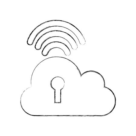 hard disk: cloud computing isolated icon vector illustration design