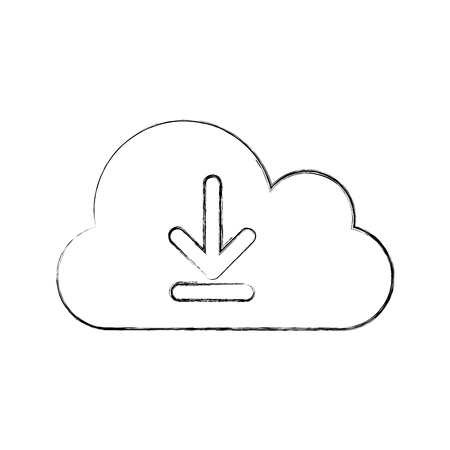 cloud computing with arrows vector illustration design Иллюстрация